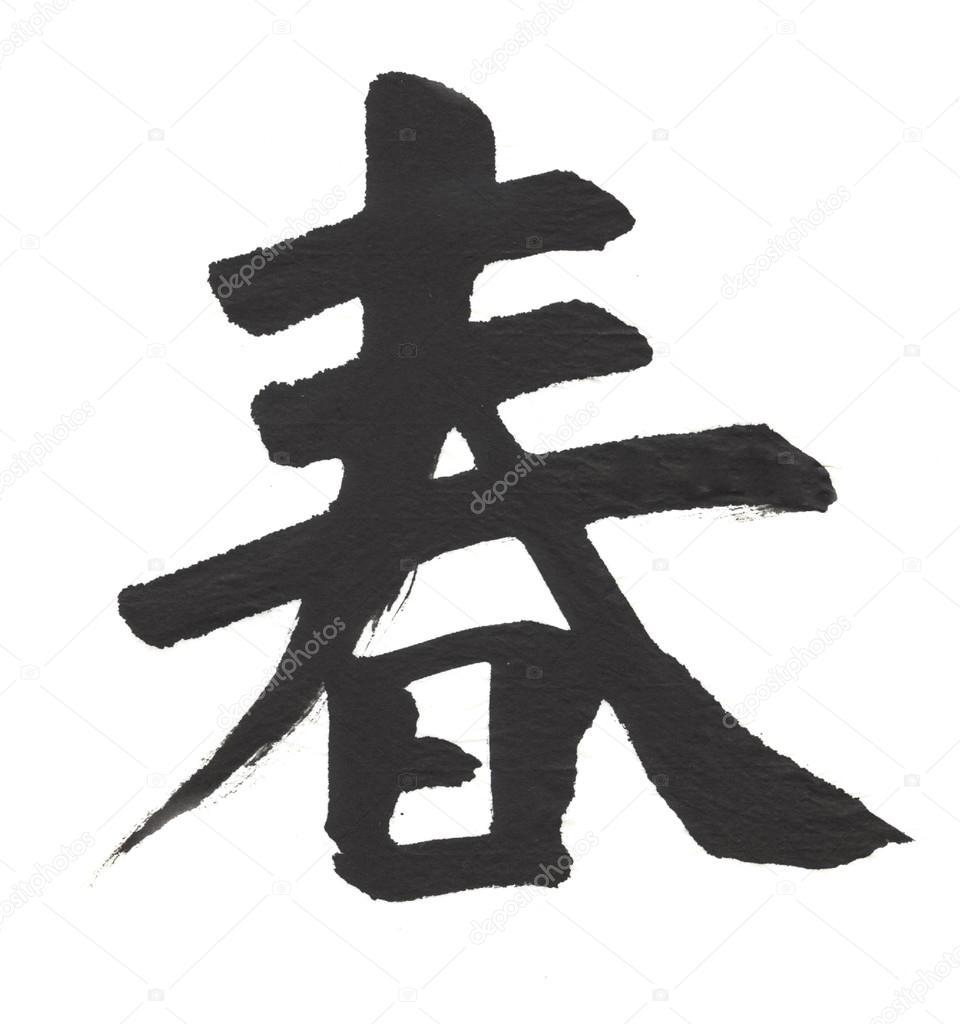 Feder Bedeutung Kalligraphie Hieroglyphe Auf Weissem Hintergrund