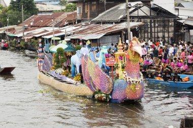 SAMUT PRAKARN,THAILAND-OCTOBER 7, 2014:The Lotus Giving Festival