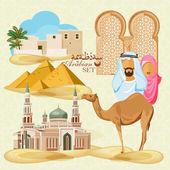 Fotografie Arabic life set
