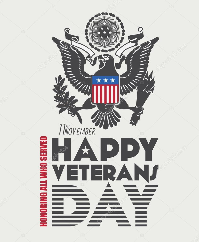 Veterans day poster.