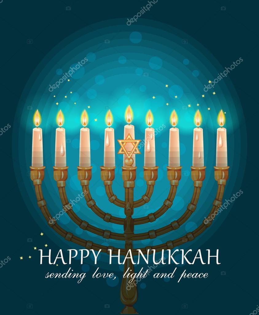 Happy hanukkah greeting card design jewish holiday vector happy hanukkah greeting card design jewish holiday vector illustration stock vector m4hsunfo