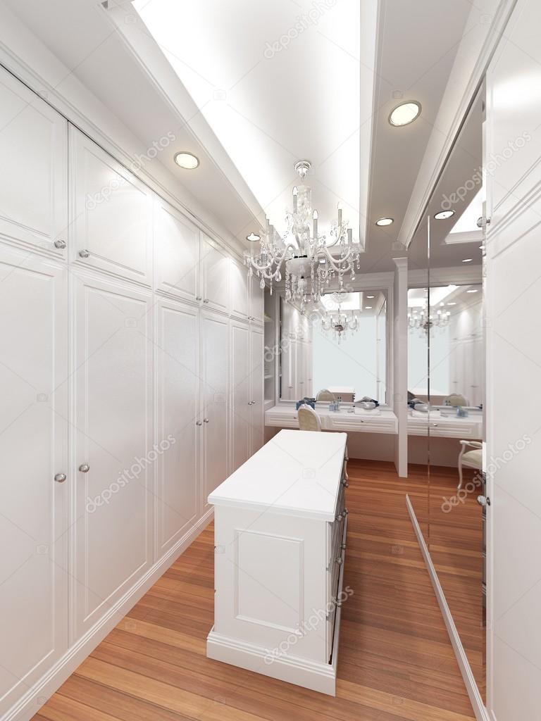 rendering 3D di interno cabina armadio — Foto Stock © yaryhee #105364660