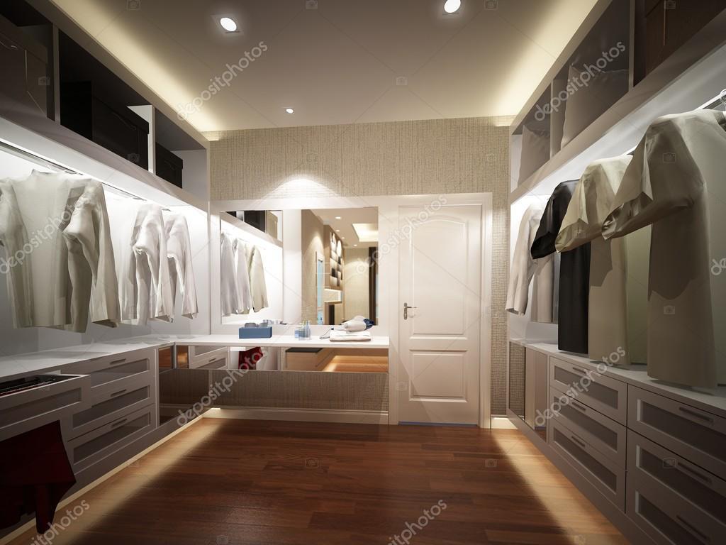rendering 3D di interno cabina armadio — Foto Stock © yaryhee #112609800