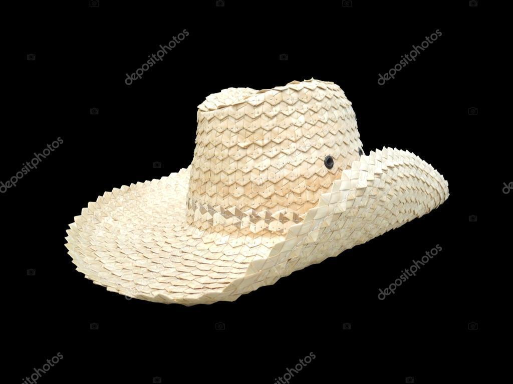 eccezionale gamma di colori ampia scelta di colori e disegni tra qualche giorno Cappello da contadino isolare su sfondo nero — Foto Stock ...