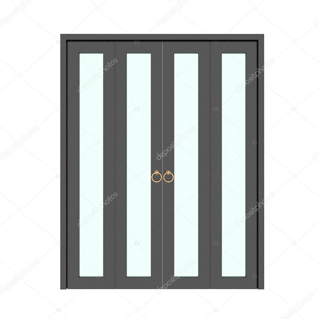 Porta pieghevole nero con griglia 3d foto stock for Porta pieghevole