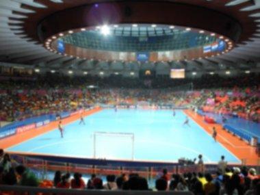 defocused background of futsal stadium,Thailand