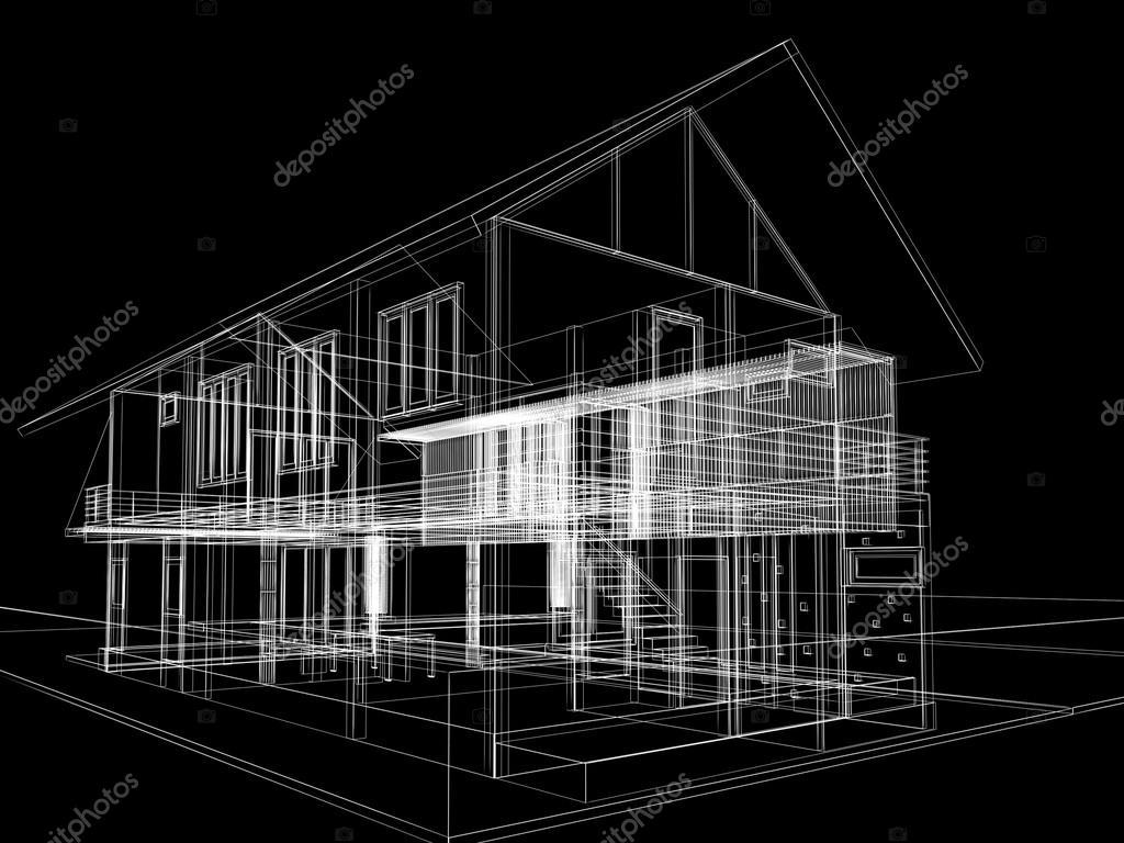 Conception de croquis abstrait d 39 ext rieur maison for Conception de croquis de plan de maison