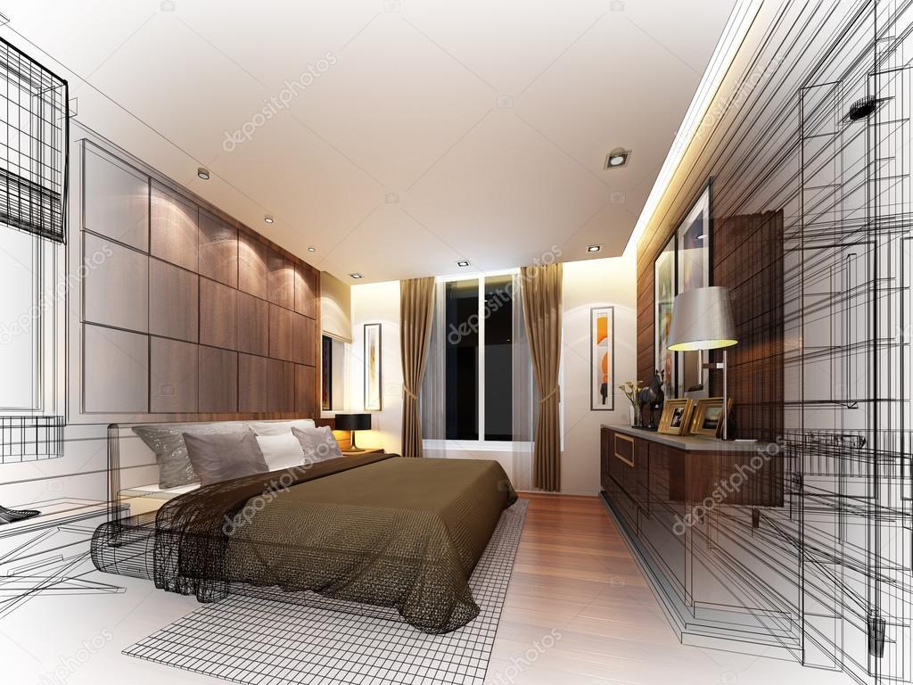3d render ontwerp van interieur slaapkamer foto van yaryhee