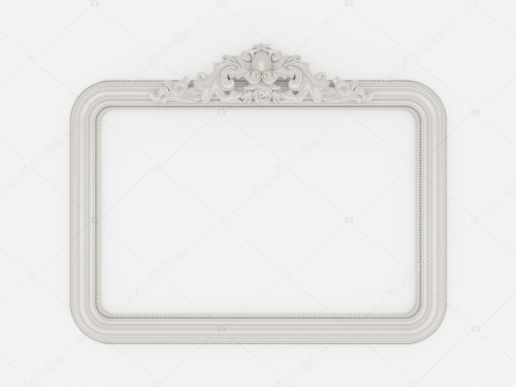 3d empty vintage frames on white wall — Stock Photo © yaryhee #99405144