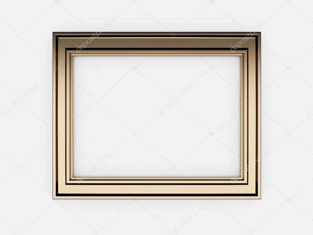 3d empty vintage frames on white wall photo by yaryhee - White Vintage Picture Frames