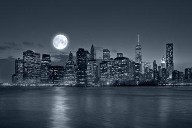 "Картина, постер, плакат, фотообои "" Нью-Йорк ночью"", артикул 52921497"