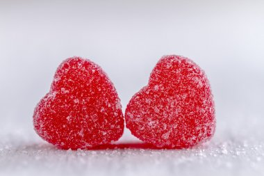 Sevgililer günü kalp şeker ve tanımlama bilgileri