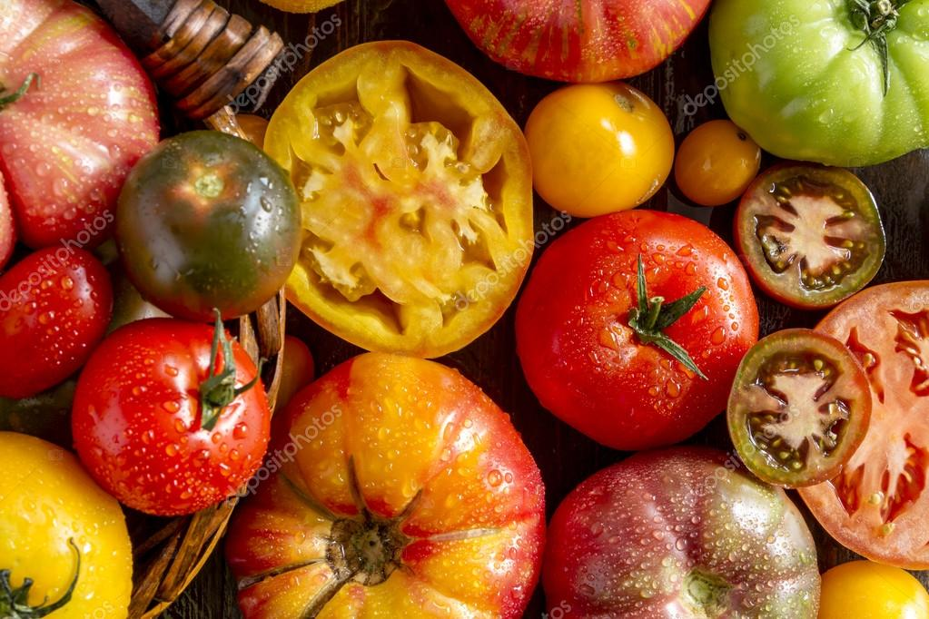 Assortment of Fresh Heirloom Tomatoes