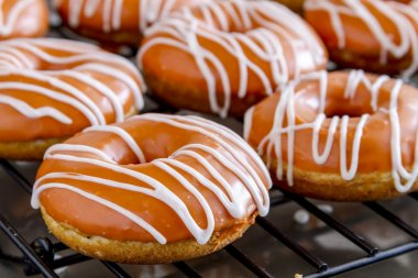 Homemade Baked Pumpkin Donuts with Glaze