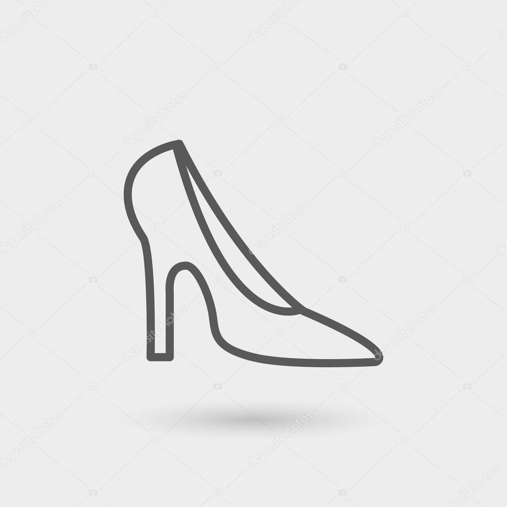 Talons Ligne Icône Chaussures Fine De gInxxwq1S