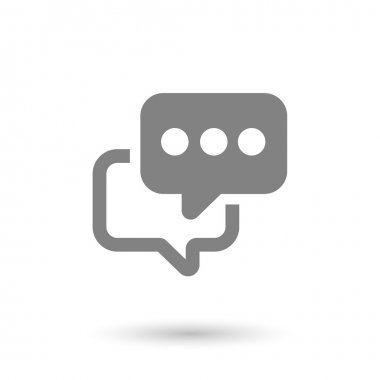flat chat icon background