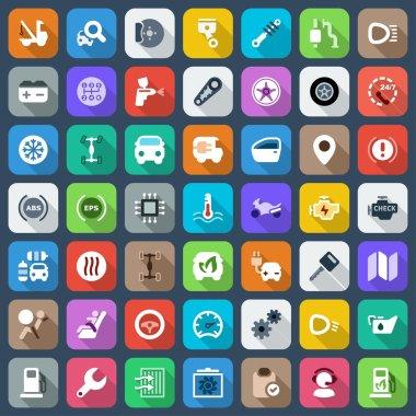 flat iconset motor colorful