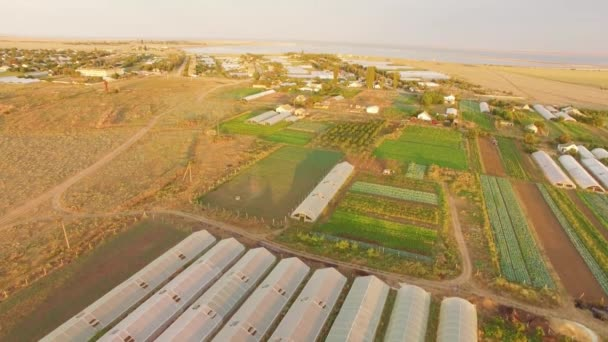Území skleníků na zemědělských polí
