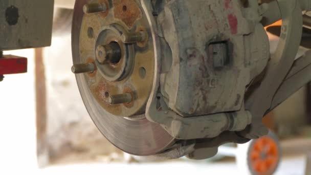 Dismantling Of Brake Disk At Auto Repair