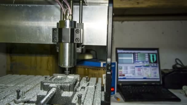 Lathe With Numerical Control Working At Workshop