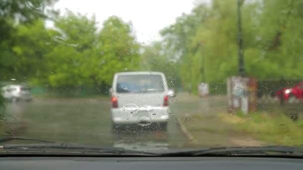 Following a Car While Driving During Rain
