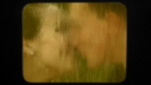 Newlyweds Kissing Touching Falling Water