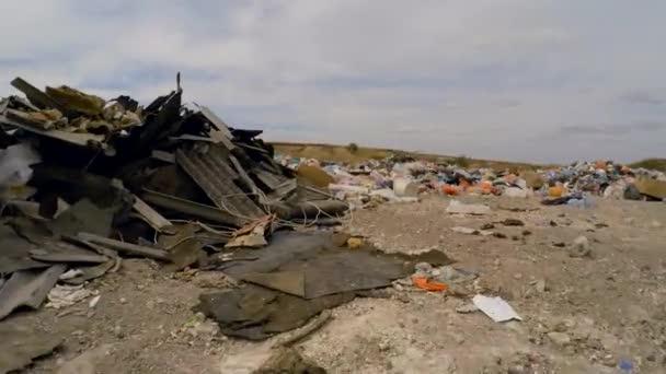 Broken Slates Among Garbage Dumped Into Heap At Landfill In Ukraine