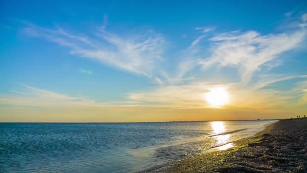 Háttér, gyönyörű Sunset Over Fekete tenger Beach pihentető
