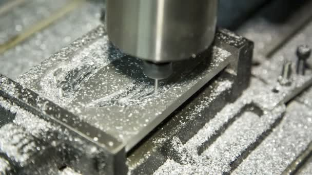 Metal Lathe Cutting Aluminium. Close-up