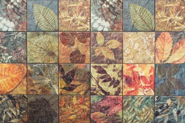 Old wall ceramic tiles patterns handcraft from thailand public.
