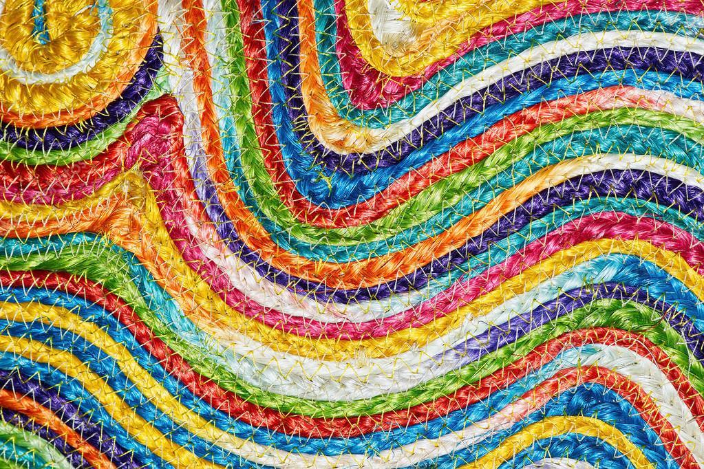 Tappeti In Tessuto Naturale : Art tappeto in lana panna con disegno pavoncella nera naturale
