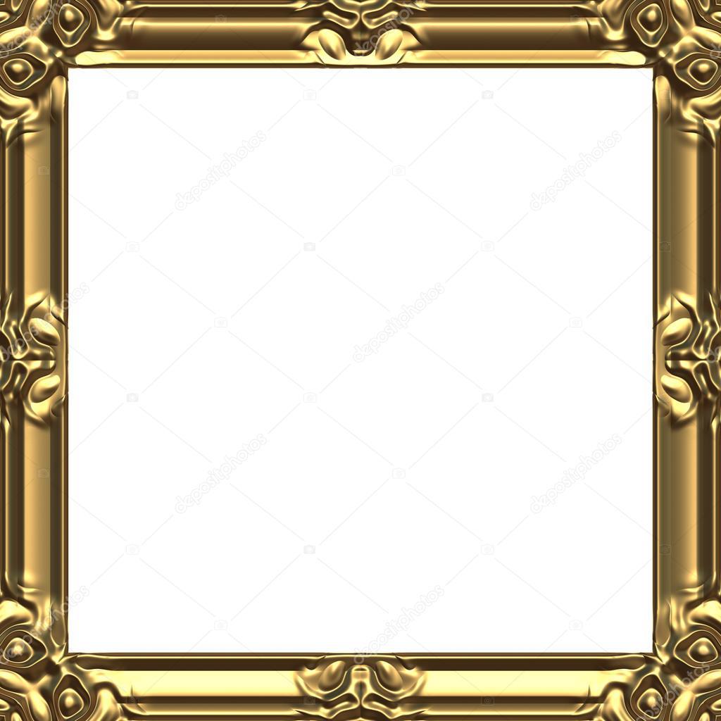 Bild Rahmen Gold Quadrat — Stockfoto © imagerun #102077456