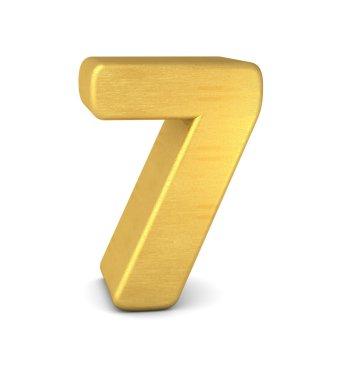 3d number 7 gold