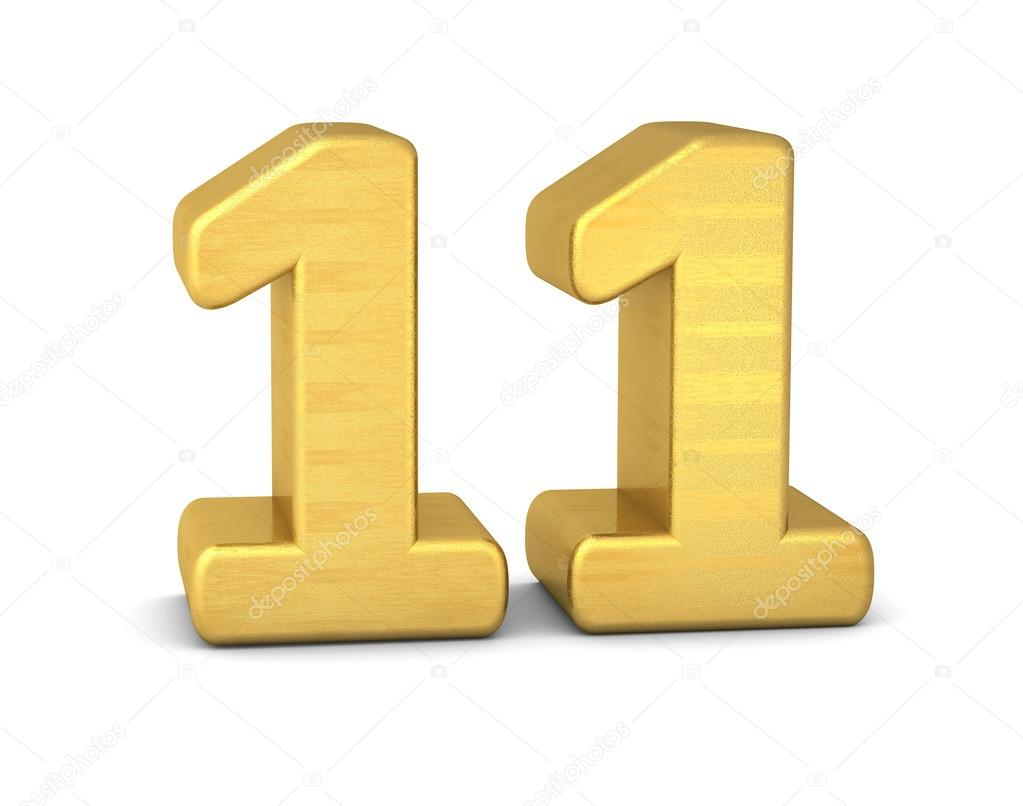 3d number 11 gold  u2014 stock photo  u00a9 imagerun  93257080