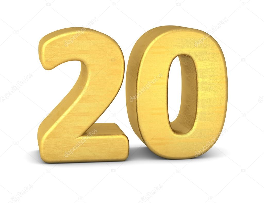 3d number 20 gold stock photo imagerun 93257326 for 20 images