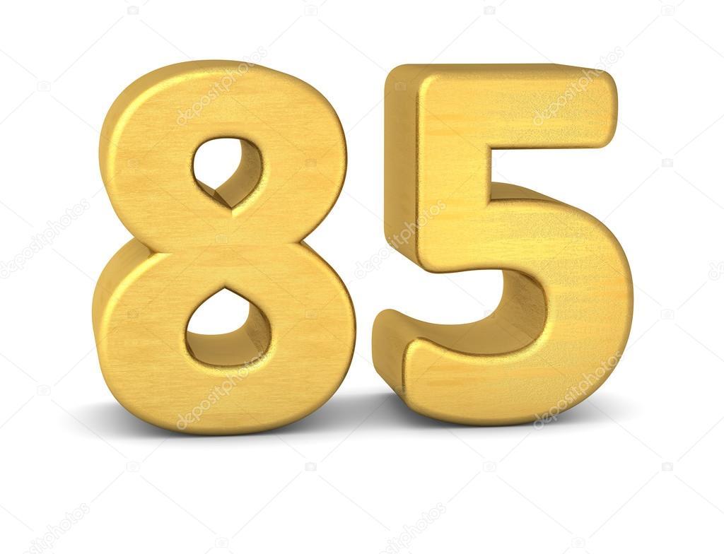 3d number 85 gold stock photo imagerun 93539646
