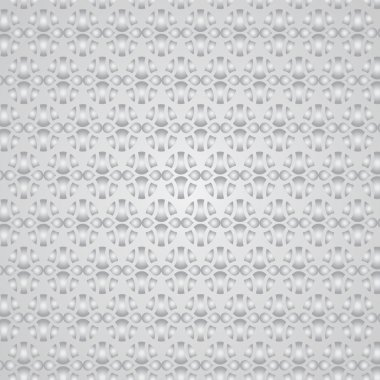 Silver Sweet Easter Eggs Pattern on Pastel Background