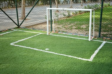 Mini Football Goal On An Artificial Grass