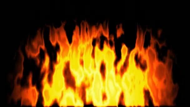 Generált égő tüzet varrat nélküli hurok videóinak