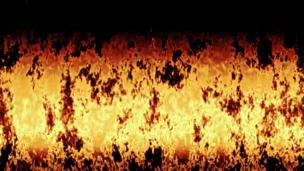 Oheň hoří generována bezešvými smyčky video