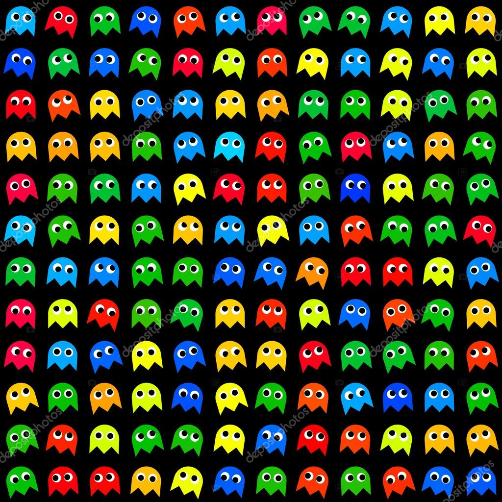Game monsters seamless generated pattern stock vector