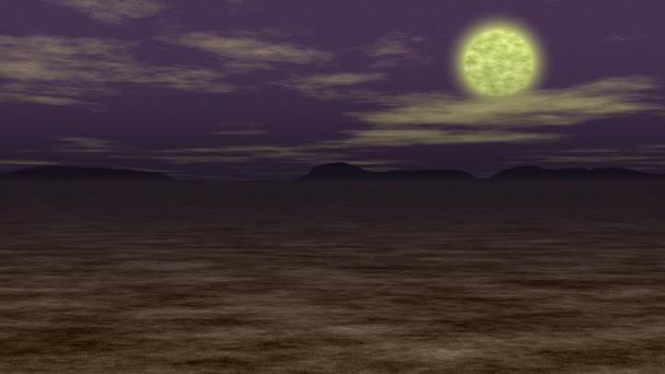 Night landscape generated seamless loop video