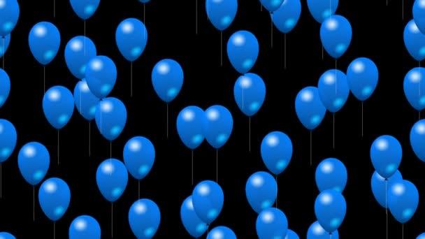 Strany modré bubliny vytvořené bezešvá smyčka video s alfa matný