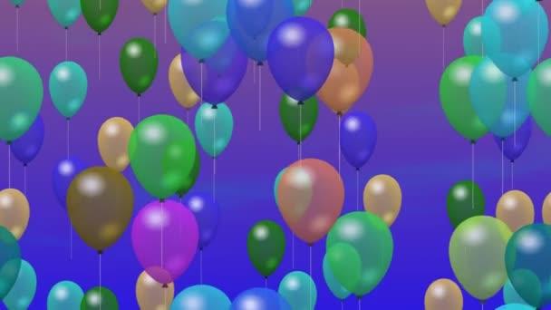 Balony strana vygenerována bezešvými smyčky video