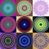 Mandala ornamentika összessége generált textúrák