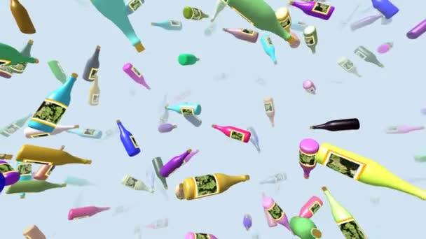 Létající lahve generovat 3d video