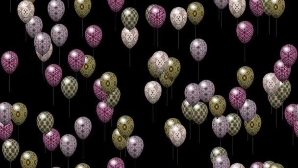 Velikonoční vejce bubliny vytvořené bezešvá smyčka video s alfa matný
