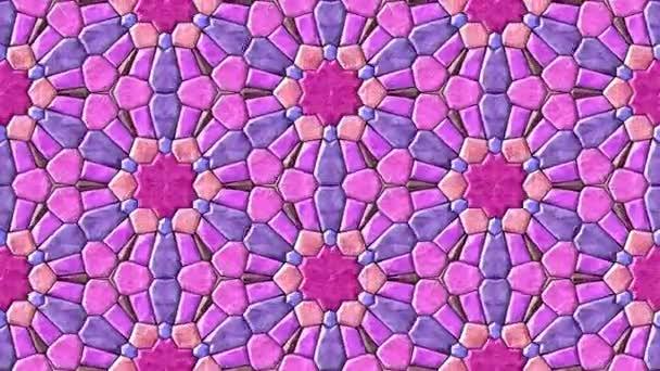 Skleněná mozaika kaleidoskopický generovány bezešvými smyčky video