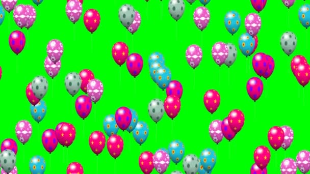 Velikonoční vejce bubliny vytvořené bezešvá smyčka zelená obrazovka