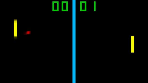 TV tenis ve stylu retro hra pixelové grafiky